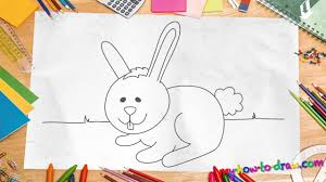 how to draw a rabbit easy step by step drawing lessons for kids