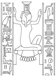 ancient egypt coloring page ancient egyptian art coloring pages free colouring pictures to