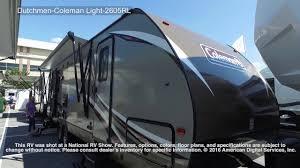 dutchmen rv floor plans dutchmen coleman light 2605rl youtube