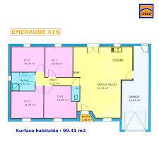 plan de maison 4 chambres plain pied plan de maison individuelle plain pied