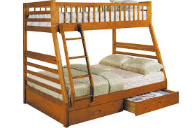 Kids Wood Bunk Bed Honey Oak Hideaway Bunkbed The Futon Shop - Kids wooden bunk beds