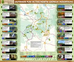 Georgia Map Usa by Chattahoochee Oconee National Forests Maps U0026 Publications