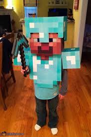 minecraft costume diamond armor steve costume