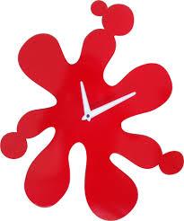 Horloge Murale Rouge by Acier Dimensions