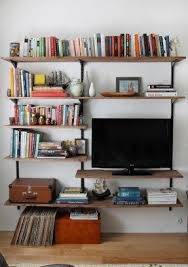 Wall Mounted Bookshelves Wood by White Tv Wall Mount Foter