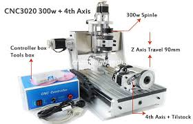 4 axis z axis travel 90mm mini 30 20mm cnc router drilling milling machine 3d cnc router