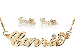personalized earrings carrie style earrings name necklace persjewel