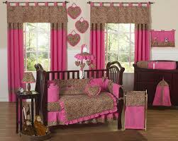 girls cowgirl bedding pink brown cheetah print baby bedding 9pc nursery crib set