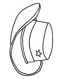 free cowboy boot outline cowboy cowgirl hat colouring page craft