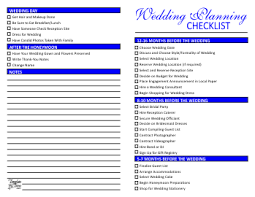 simple wedding planner checklist for wedding planning template trove