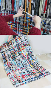 Making Braided Rugs Diy Potholder Rug Tutorial Home And Diy Pinterest Potholders