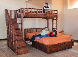 Stair Bunk Beds The Stairway Wooden Bunk Beds Forever Redwood