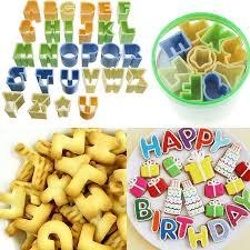 r馮lette cuisine alphabet letter number fondant cake decorating cookie cutter set