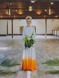purple and orange wedding dress crush dip dye wedding dresses diy
