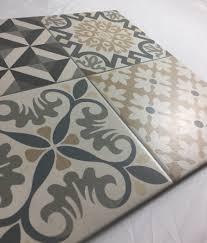Mosaique Del Sur Carrelage Style Ancien Ciment Gris Heritage Grey 33x33 Cm à L