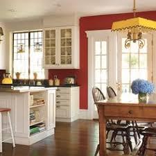Red Color Kitchen Walls - kitchen red walls cream cabinets with darker fixtures dark