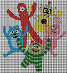 yo gabba gabba friends crochet pattern