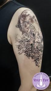 tatuaggio dark souls artorias e sif adam raia by violet fire