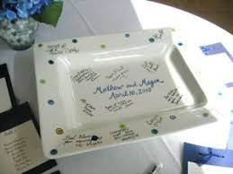 guest book platters guestbook signature platters the pottery piazza