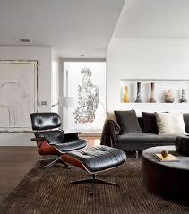 Charles Eames Lounge Chair White Design Ideas Black Eames Lounge Chair With White Walls Furnishings