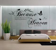 wall decals stickers home decor home furniture diy because someone we love is in heaven quote wall art sticker decal uk rui124