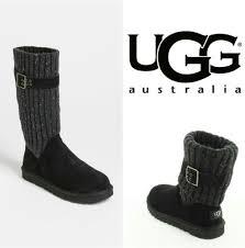 womens black leather boots australia ugg australia womens black knited calf leather boots shoes size 5