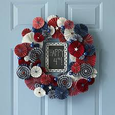4th of july wreaths make a july 4th door wreath july 4th decorations allyou