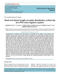 head and lateral length on water distribution uniformity of a pvc