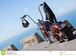 motorcycle over jacket customized chopper motorcycle stock photo image 51218444