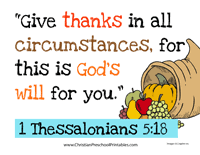 bible based thanksgiving resources