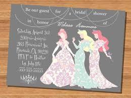 etsy wedding shower invitations princess wedding shower invitation disney princesses