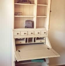 vintage pennsylvania house painted two piece secretary desk hutch