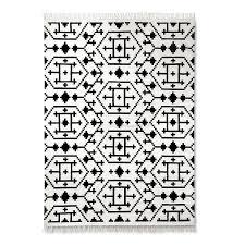 Geometrical Rugs Black White Geometrical Pattern Rug
