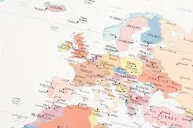 European Map by Image Of Conceptual European Map On White Paper Freebie Photography