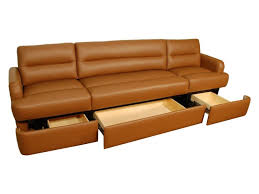 Sofa Leather Covers Impressive Dual Purpose Long Couch With Comfy Durable Brown