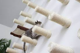 cat wall furniture wall of sisal posts catastrophic creations