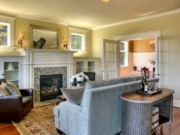 lights around mirror craftsman style fireplace with windows ranch