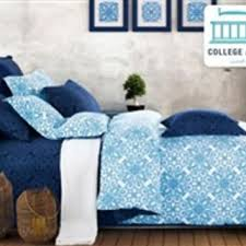 crystalline blue twin xl comforter set from dormco college