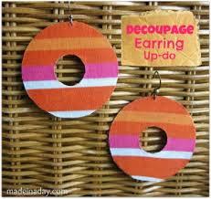 decoupage earrings decoupage earrings family crafts