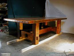 rustic kitchen table style modern table design