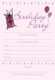 pink invitation card blank pink birthday party invitation card design for girls momecard