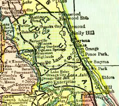 Map Of Volusia County Volusia County 1898