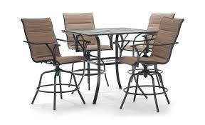 bar height patio set 25453ecba292 1 piece patio dining set with umbrella miramar metal