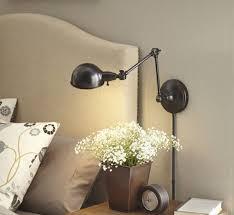 Headboard Reading Lights Bedside Lamps Bedroom Inspiring Design With Cream Frame Designed
