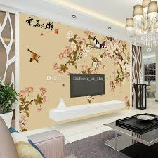 elegant bird and flower wallpaper custom 3d wall mural vintage