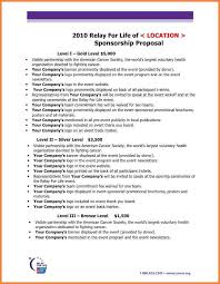 tour proposal template 6 event sponsorship proposal sample