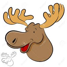 an image of a moose wild animal cartoon royalty free cliparts