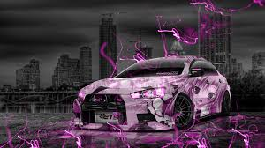 purple mitsubishi lancer mitsubishi lancer evolution x tuning jdm anime city car 2015 el tony