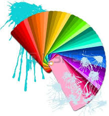 color swatches with paint splatters royalty free cliparts vectors