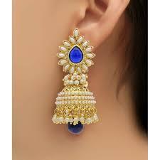 jhumki style earrings youbella traditional copper style pearl jhumki earrings